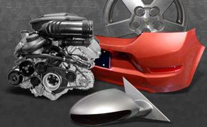 Pièces (miroir, bumper, moteur, roue)